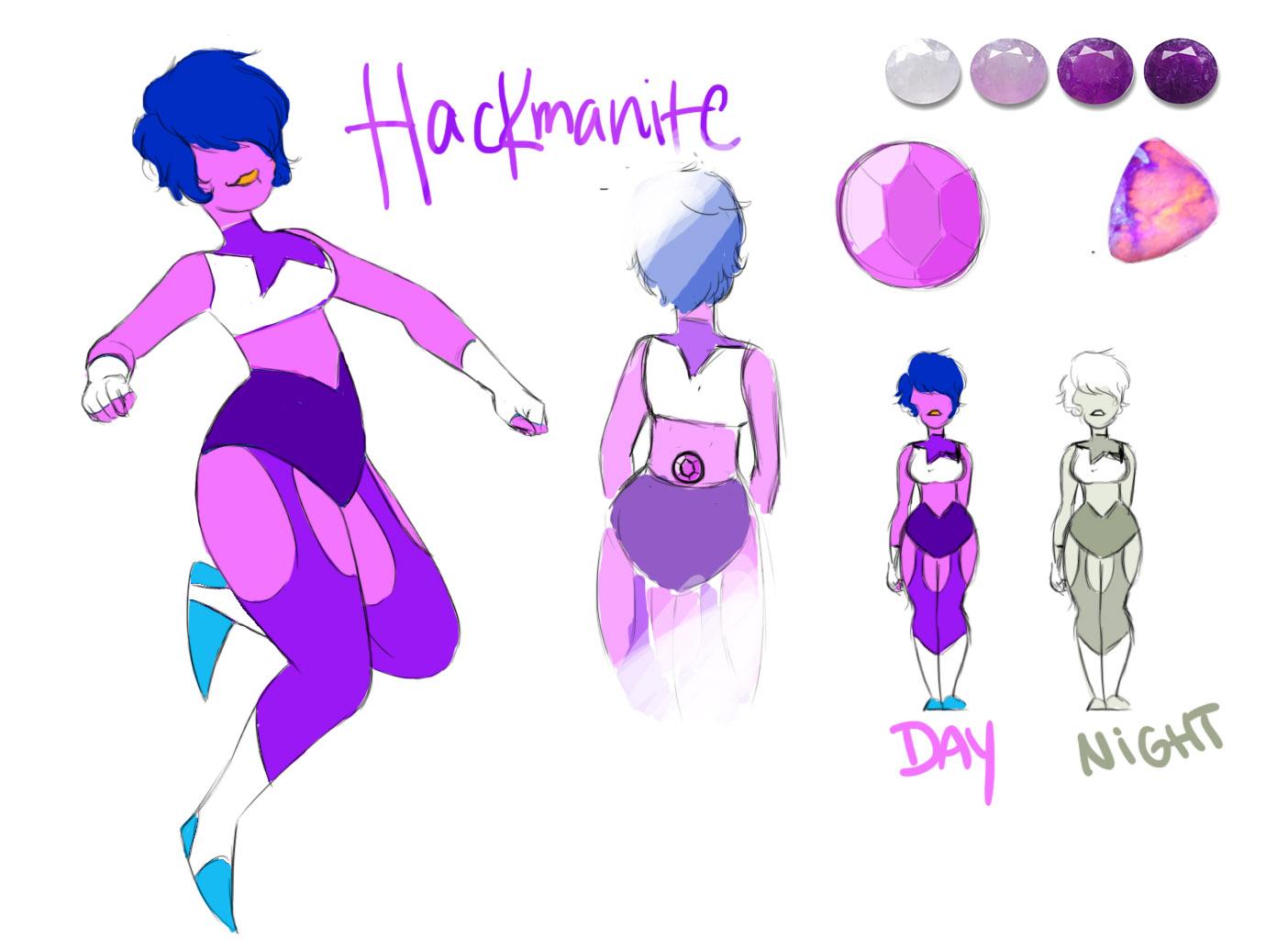 Hackmanite - Gemsona OC by h4e on DeviantArt