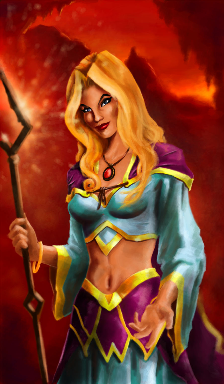 Warcraft Sorceress by artist2point5