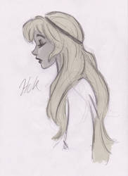 Eilonwy sketch by artist2point5