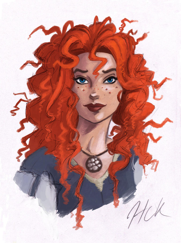 Merida Color Sketch by artist2point5