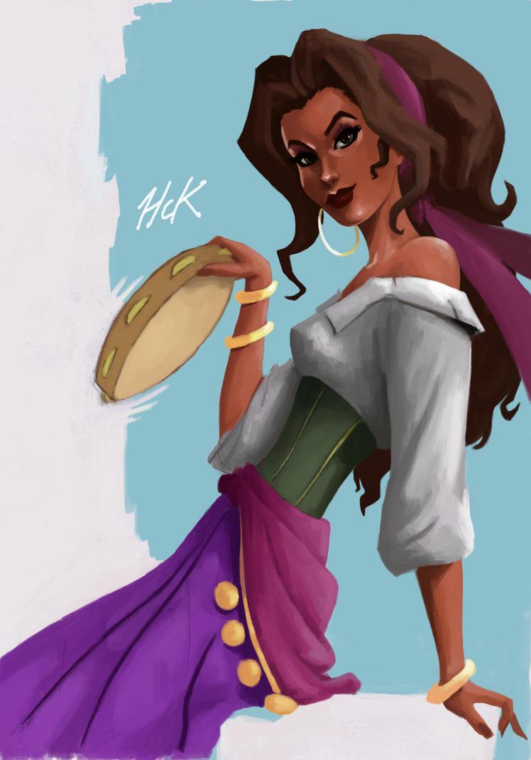 Esmeralda Sketch by artist2point5