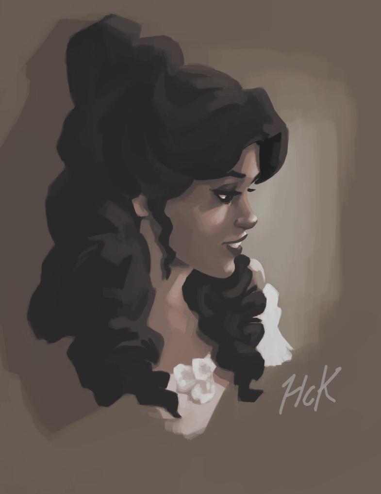 Belle digital sketch by artist2point5