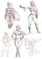 Sketch Dump Powergirl by artist2point5