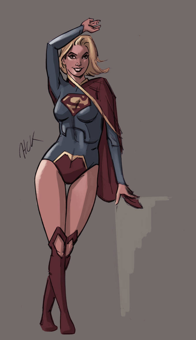 Supergirl colorsketch 2 by artist2point5