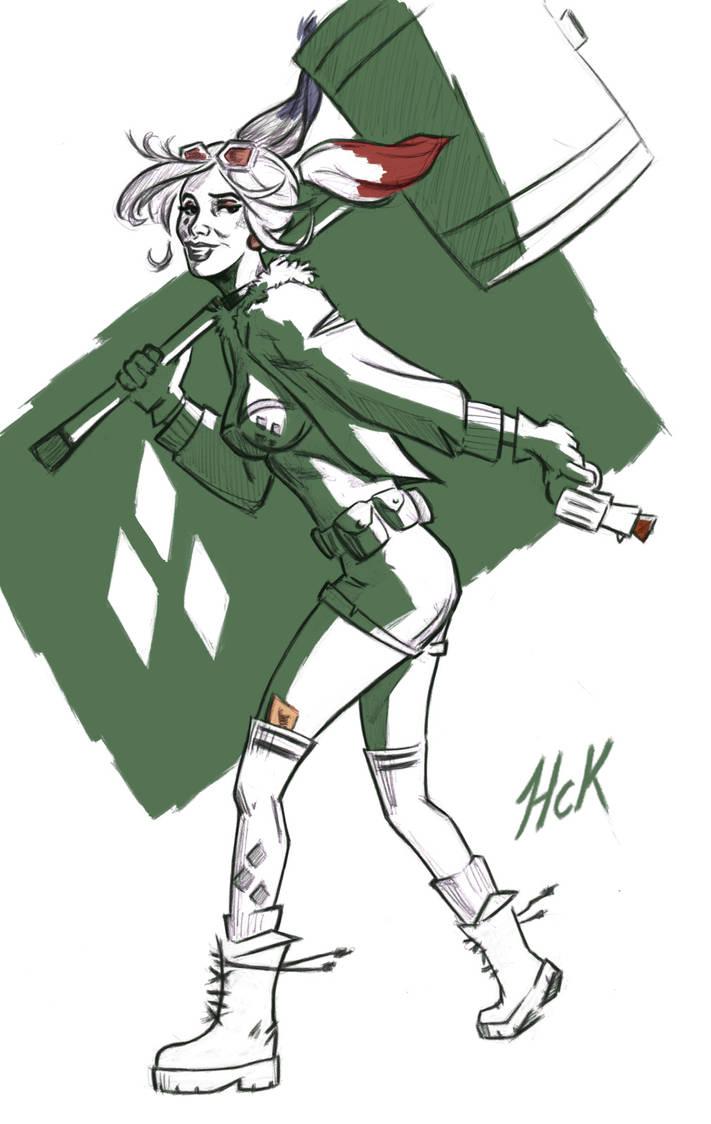 Harley Quinn bombshell sketch by artist2point5