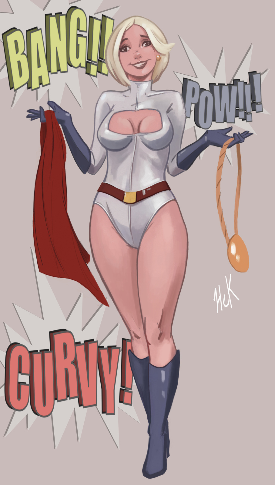 Powergirl BANG POW CURVY by artist2point5
