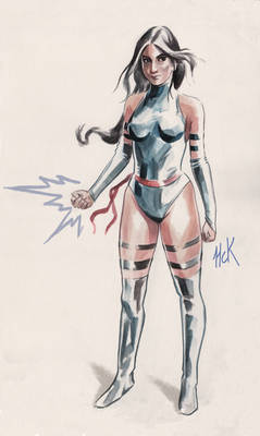 Psylocke color sketch