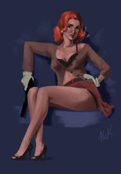 Pinup -Black Widow