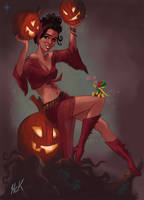 Scarlet Witch -Pumpkins and Vision