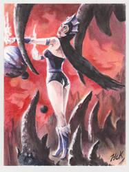 MOTU Evil-Lyn Acrylic sketch