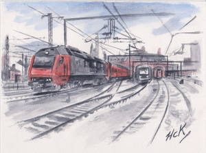 Watercolor Train ME