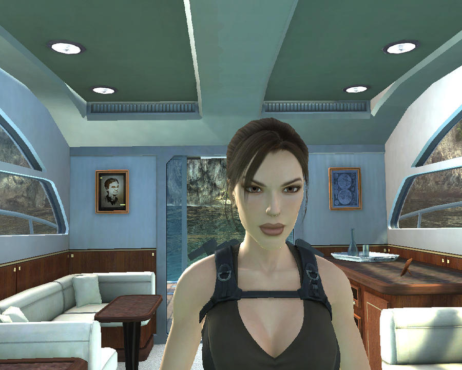 Lara in the boat by Chriss2010