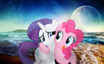 Pinkie Pie And Rarity At The Beach :)