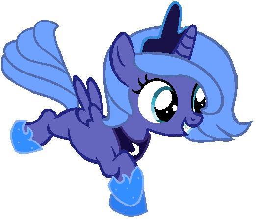 My little pony filly luna - photo#24