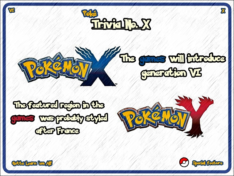 'PokeTrivia No. X' (Special Feature) by TrainerEM-Dustin