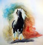 Watercolor Horse Study
