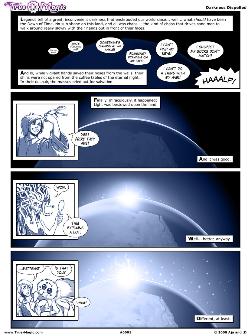 True Magic, the Comic - Page 1 by Vanilleon