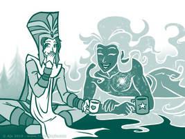 Java and Lucideus by Vanilleon