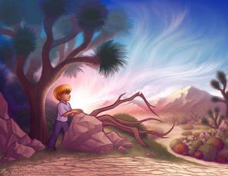 Boy in the Desert by Vanilleon