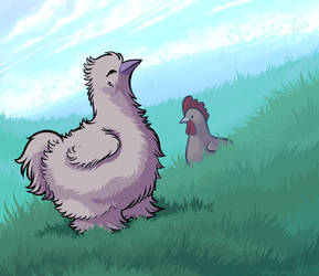 Happy Chickens Wallpaper by Vanilleon