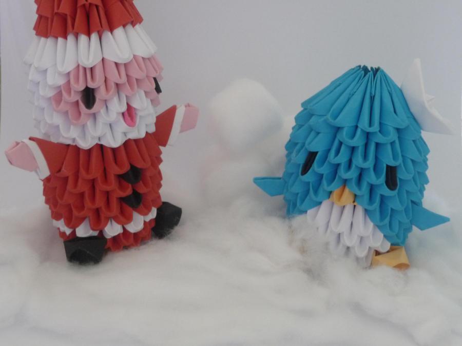 Tuxedo Sam and Santa by xxMystic-Heartxx