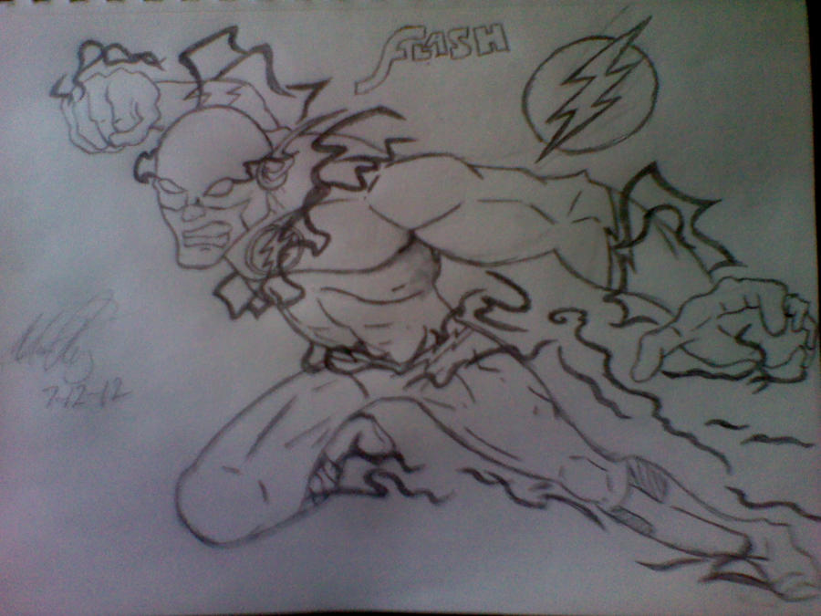 The Flash Line Art : Praxis the natural way to drawthe draw