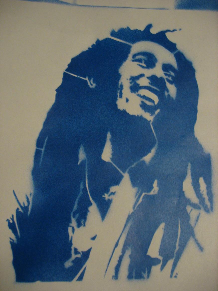 Bob Marley stencil by blink-SF on DeviantArt