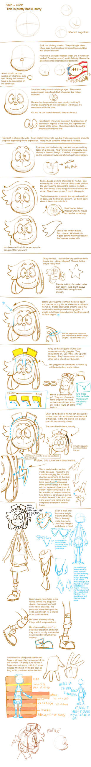 Model Sheet: Sock by real-faker