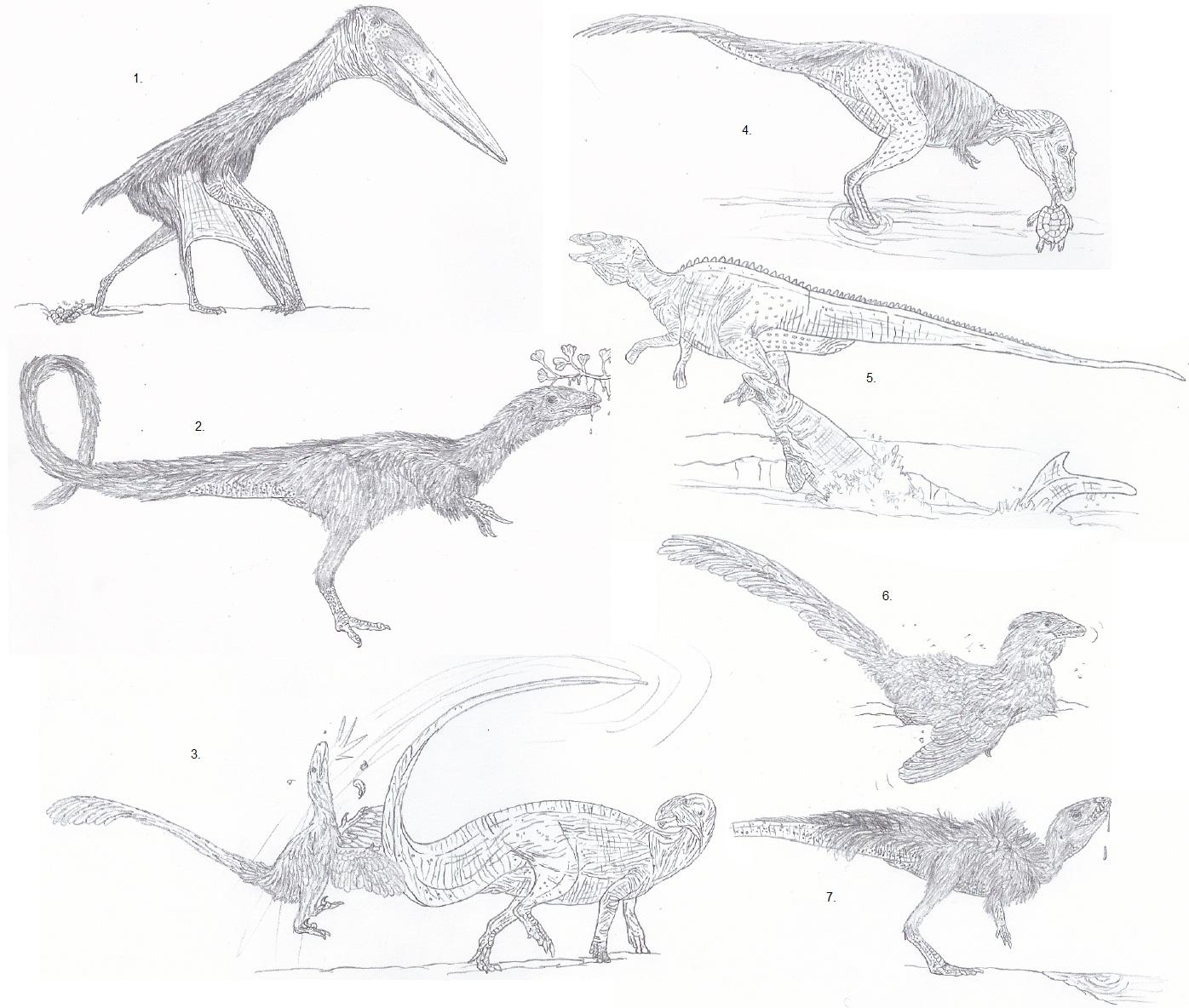 Uncommon Scenes in Paleo-Art by Tomozaurus