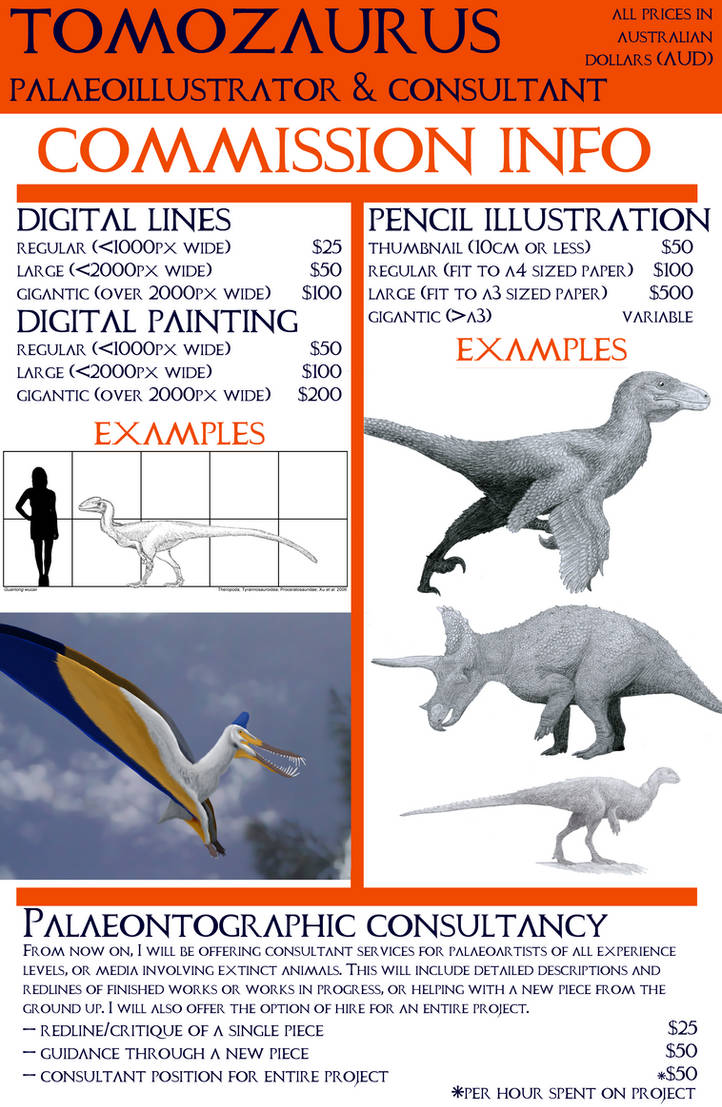 Tomozaurus Art Commissions by Tomozaurus