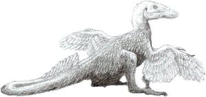 Sunbathing Deinonychus