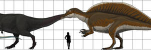 Commission: Megatheropods and Dilophosaurus