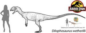 Jurassic Park 2016 - Dilophosaurus (scaled)