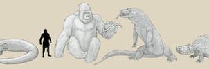 Skull Island Critters by Tomozaurus