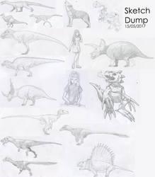 Sketch Dump May 2017 by Tomozaurus