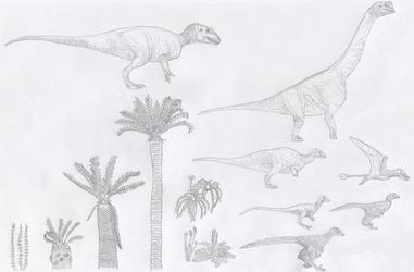 Sketch Dump October 2017: Just Jurassic Things by Tomozaurus