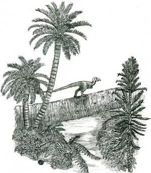 Jurassic environment sketch