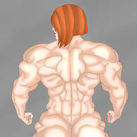 Female Muscle Girl by TheRedMoss