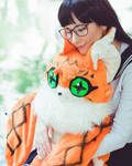 Meiko Cosplay + Meicoomon Plush by JackSquash