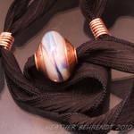 Aurae Silk Ribbon Necklace