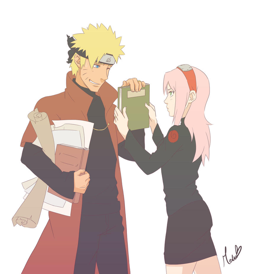 NaruSaku - Your Paper Work, Dear... by NightLiight
