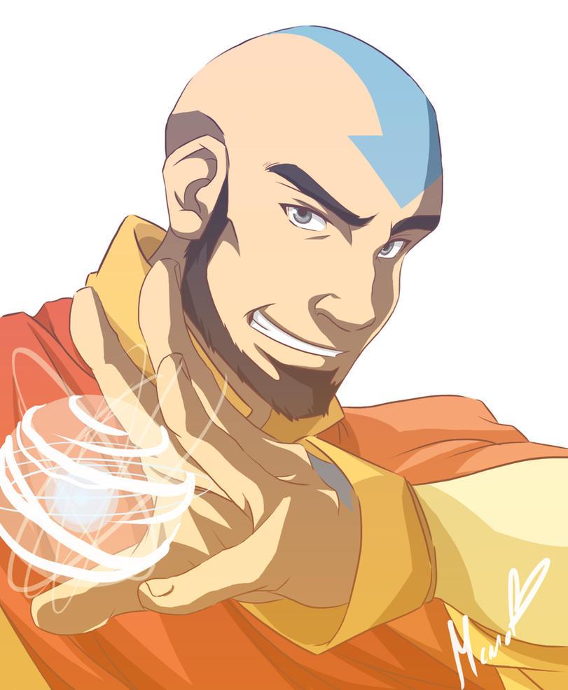 Avatar Aang With Hair: Midlife By NightLiight On DeviantArt