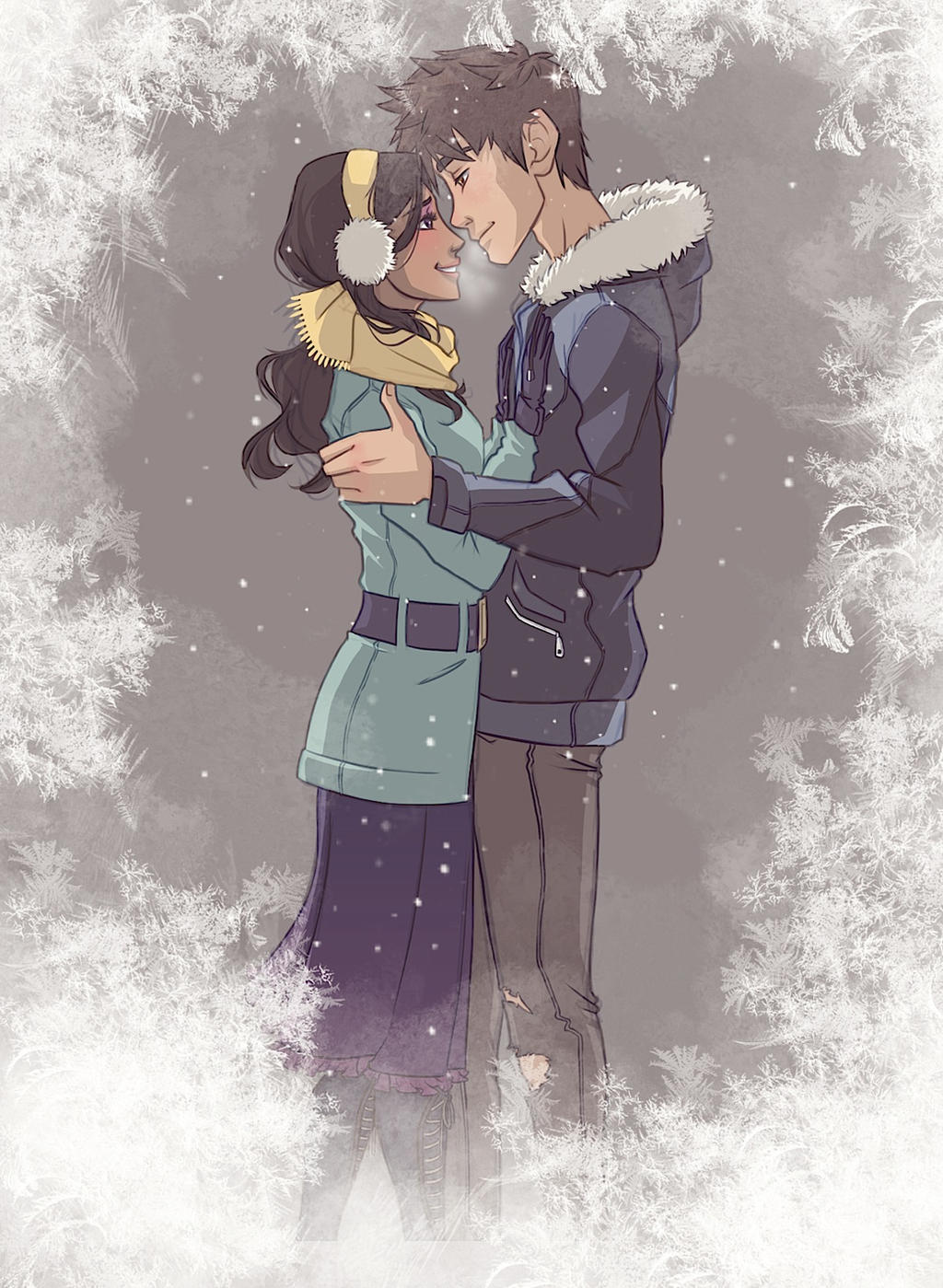 Peppermint Winter - Human AU Frostbite by NightLiight