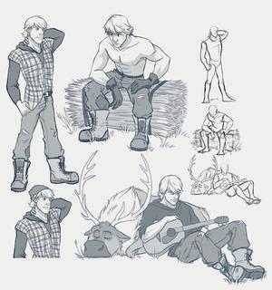 ModernFrozen AU - Kristoff - Sketch