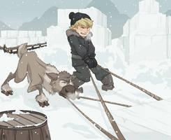 Teamwork - Kristoff and Sven by NightLiight