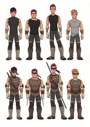 TMNT 2k12 - Humanized - Full Body by NightLiight