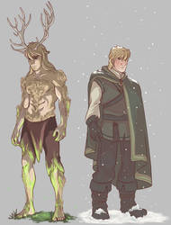 The Stag and the Maiden - Kristoff by NightLiight