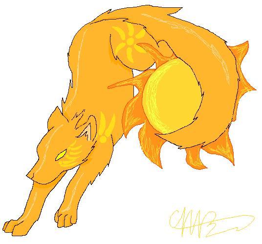 Sun Wolf by DracoWolf0-0 on DeviantArt