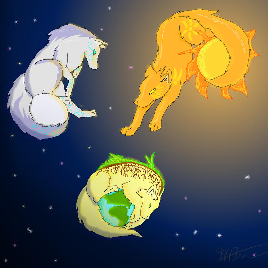 all together moon sun earth by dracowolf00 on deviantart