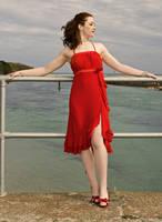 Red Dress by Odette-Roissy